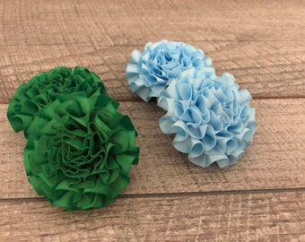 "2"" Green or Baby Blue Mini Satin Flower | Flower for Dog Collar | Small Dog | CupcakePups"