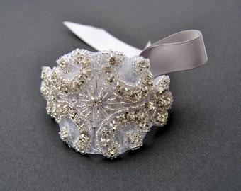 Rhinestone beaded cuff bracelet- bridal, bridesmaid cuff bracelet,bridal bracelet, beaded crystal cuff