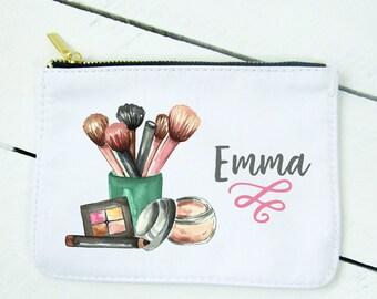 Cosmetic Bag Makeup Bag Personalized Makeup Bag Personalized Costmetic Bag Wedding Gift Bridal Gift Personalized Bridal Gift RyElle