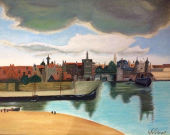 Port of Delft - Figurative painting