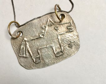 new sterling horse pendant in sterling
