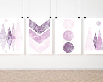 Scandinavian Style Purple Printable Art, Minimalist Art, Nursery Art Print, Download Print, Digital Download, Wall Art, Art Print