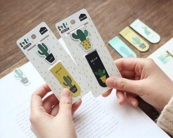 Cactus magnetic bookmark, bookmarks, succulent bookmark, planner accessories, book mark, bookmark set, clip bookmarks