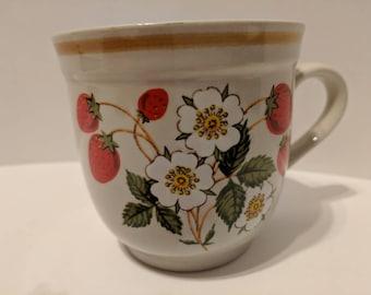 Strawberries n Cream tea cup/mug
