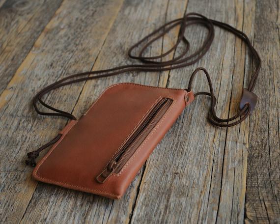 Blackberry KEYone Classic DTEK50 DTEK60 Leap Priv Z3 Z30 Case Leather Mini Messenger Bag Organizer with Zippers and Pockets Sleeve Cover