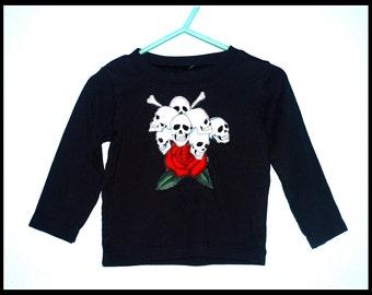 Boys Rockabilly Shirt with Skulls n Bones....size 18 months