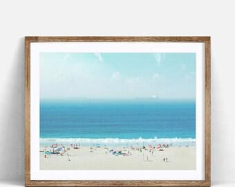 Beach Wall Art, Beach Photography, Coastal Decor, Beach Photo, Digital Print, Printable Beach Art, Modern Beach Print, Large Beach Poster,