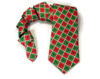 Chemistry tie, Periodic Table, hohoho, Christmas Chemistry, science tie, chemistry gift, physics tie, periodic elements, Nerd Christmas gift