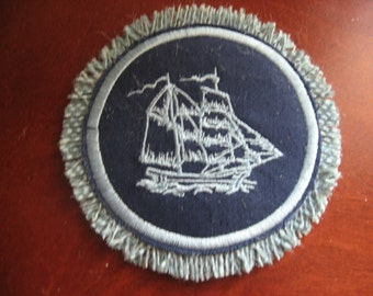 Clipper Ship Miniature DollHouse Mini Rug 1/12 Scale