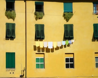 Travel Photography print 'Windows in watercolour' Tuscany Travel Photography - Watercolour print - fine art photography print