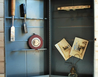 Vintage Toolbox, Vintage Sears Toolbox, Vintage Industrial Shelf, Vintage Happi Time Toolbox, Storage Box, Display Box, Apothecary Cabinet