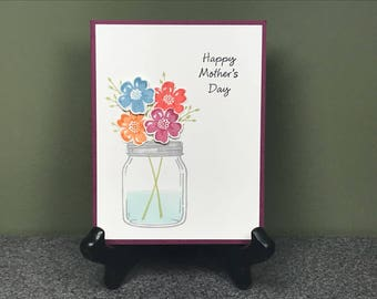 Mothers Day Card, Handmade Card, Stampin Up Card, Card for Mom, Happy Mothers Day Card, Stampin Up Mothers Day Card, Greeting Card