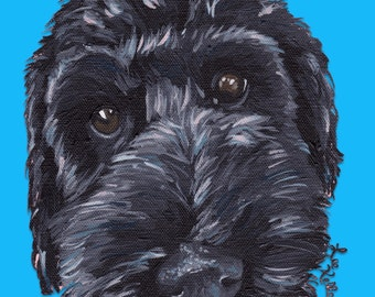 Labradoodle Art Print, Canvas or Archival Paper options