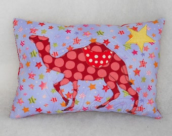 Modern Red Dotted Camel Pillow for Kids