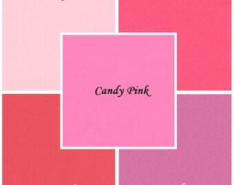 Pink 5 pc. Kona Cotton Fabric Bundle, Robert Kaufman Fabrics, Choose Your Bundle Size
