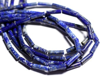 4pc - stone beads - Lapis Lazuli Tubes 13x4mm - 4558550095480