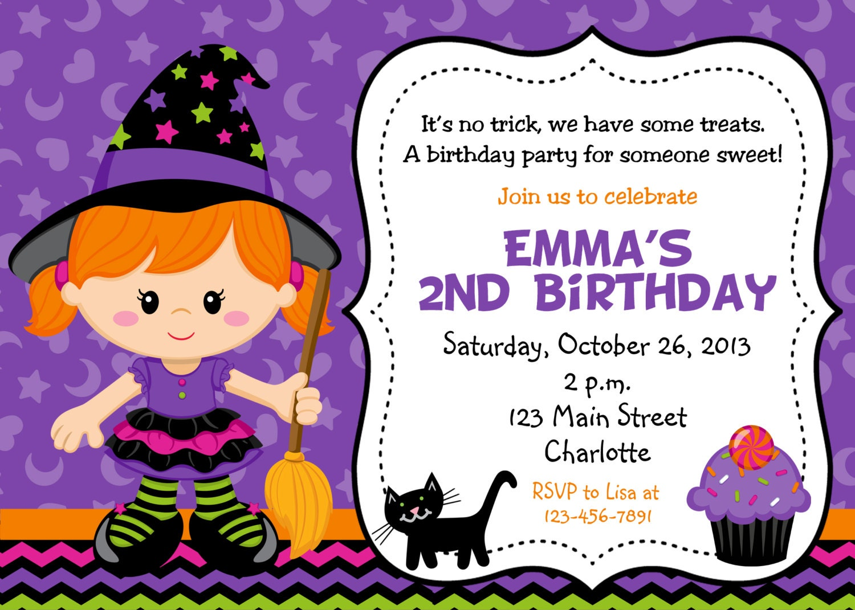 Halloween party invitation purple witch halloween zoom stopboris Gallery