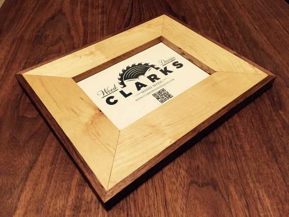 Handmade Maple and Black Walnut 5 x 7 Wood Picture Frame Wall Decor ...