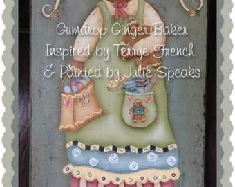 Primitive E-Pattern Kitchen Angel Ginger Cinnamon Baker Painting With Friends Terrye French Christmas Candy