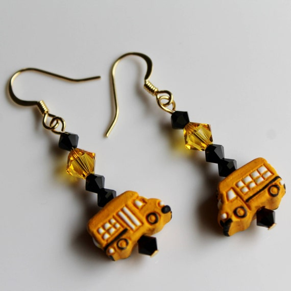 What is a good gift for a Bus Driver? Bus Jewelry School Bus Driver Gift Idea, End of the Year, Appreciation Gift for School Bus Driver