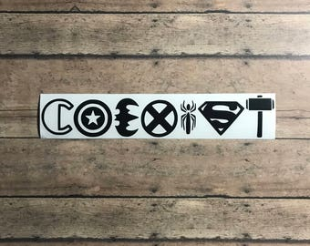 Coexist decal