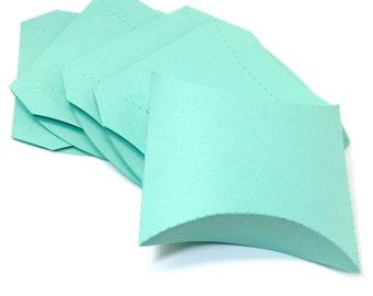 Pillow Boxes - Aqua Pillow Boxes -  Large Pillow Boxes - Cool Pool Pillow Boxes - Aqua Boxes - Wedding Favor Boxes - Birthday Party Boxes