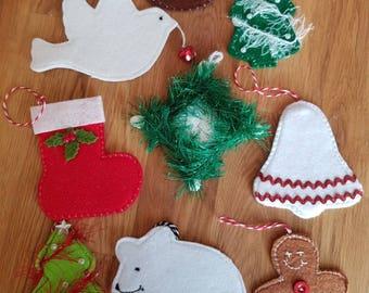 Festive fun tree ornaments
