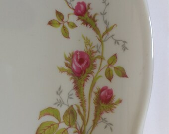Moss Rose Serving Set     Royal Hanover     Bavaria Germany   Platter    Covered Casserole   Bowl    Creamer and Sugar   Gravy Boat