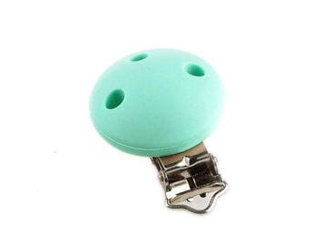 Pacifier silicone clip Mint
