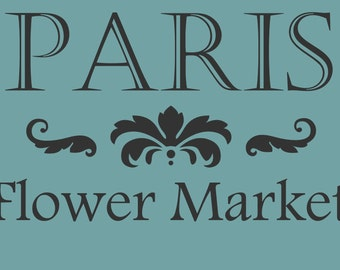 STENCIL Paris Flower Market 10x7
