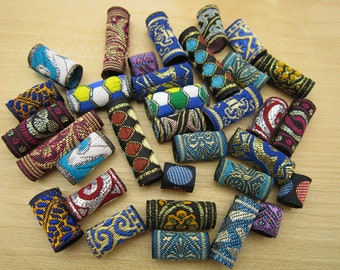 fabric Dreadlock beads dread tube  hair braid Jewelry Making Accessories about 8-10mm hole