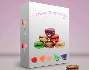 60+ Candy Overlays PNG Files