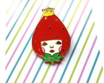 Hard Enamel Pin -Strawberry princess-