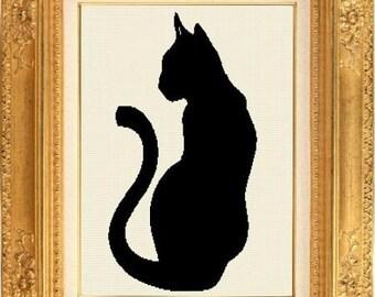 Grille point de croix compté chat