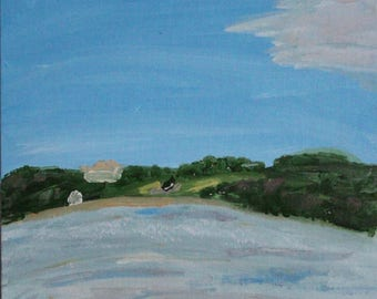 Pleasant Bay View Acrylic Painting 11x14