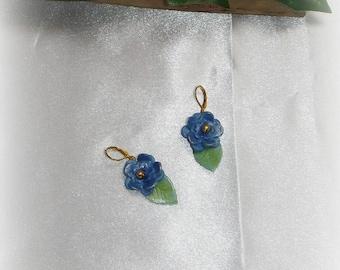 DARIA - Blue Flower Earrings
