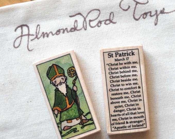 St Patrick Patron Saint Block // 100+ Catholic Saints to choose from // Catholic boy