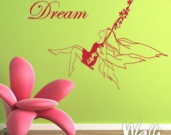 Dream fairy wall decal