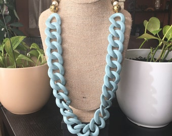 Long link statement necklace