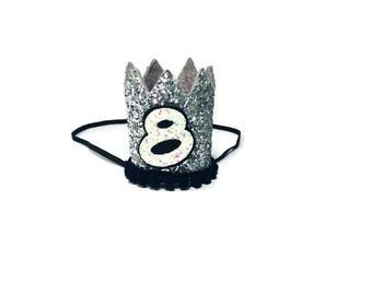 8th Birthday Crown || Any Age || Dog Birthday Hat || Pet Party || Birthday Crown