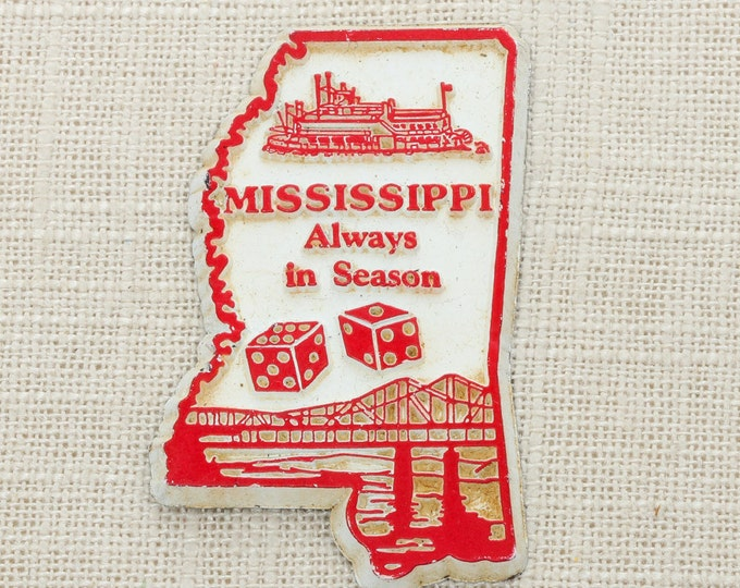 """Vintage Mississippi Silhouette State Magnet 