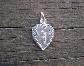 French Religious Medal, Medaille Religieuse, Virgin Mary Pendant