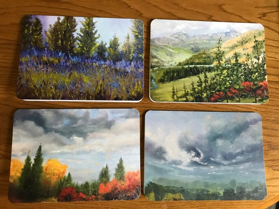 Art Notecard Sampler, Blank Card, Original Art Notecards, Art Stationary, Greeting Cards, Painting Cards