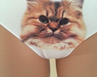 Cat Panties -Funny grumpy cat Women-Lingerie