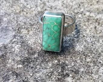 Australian variscite, 925 sterling silver ring