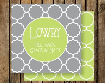 Personalized Calling Cards / Gift Tags / Family / MoroccanTiles