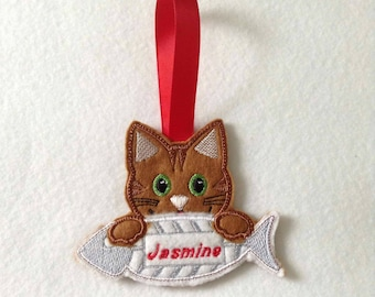Christmas decoration, cat Christmas decoration, Christmas, gingerbread,felt Christmas decoration, pet decoration
