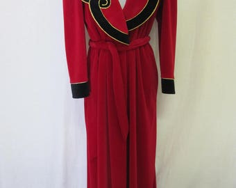 Goth Robe Plush Red Robe Christmas Robe