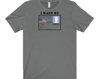 I Want My VA MMJ Cannabis Card Short Sleeve Tee