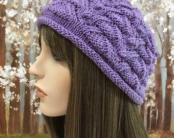 Cotton Hat, Summer Hat, Chemo Hat ' Lia-II'